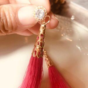 Pink beautiful Fashion earring (flequillo)